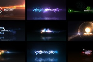 AE模板:8套炫彩动感粒子光束LOGO展示VideoHive – Quick Logo Sting Pack 04: Glowing Particles