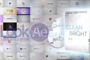 AE模板:14种清新LOGO标志演绎Videohive Quick Logo Sting Pack 01: Clean & Bright