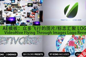 AE模板:众多飞行的图片/标志汇聚 LOGO VideoHive Flying Through Images Logo Revea