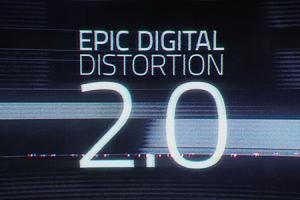 AE模板:数字信损坏干扰效果 VideoHive Epic Digital Distortion