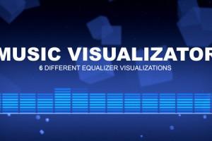 AE模板-6组音乐律动动画 VideoHive Music Visualizator