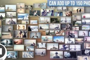 AE模板:3D图片照片墙 VideoHive 3D Photos Slideshow