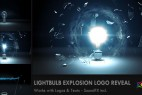 AE模版-玻璃灯泡破碎效果logo展示Videohive Light Bulb Explosion Logo Reveal