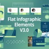 AE模版:信息数据报表MG动画 VideoHive Flat Infographic Elements V3.0