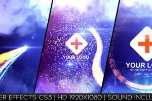 AE模版:绚丽光线粒子LOGO展示 VideoHive Light Streak Logo Reveal
