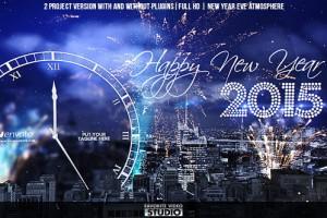 AE模板:2015新年摩天轮烟花钟声倒计时 New Year Eve Countdown