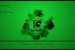 AE模版:纸飞机撞击水墨LOGO展示 VideoHive Paper Planes