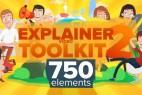 AE模版:扁平化卡通人物角色动画包VideoHive Explainer Video Toolkit 2