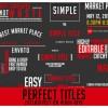 AE模版:多种个性文字动态排版展示 Titles