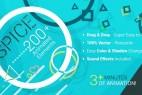 AE模版:200组多元化MG动态元素效果包 SPICE – 200+ Animated Elements