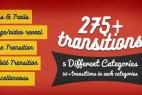 AE模版:275个MG平面图形转场特效动画videohive 275 transitions