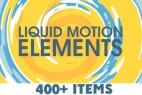 AE模版:400组MG卡通液体风格动态图形元素包 Motion Graphics