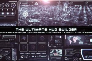 AE模版:终极HUD高科技信息化动态UI元素包 VideoHive The Ultimate HUD Builder