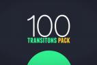 AE模版:100组MG动态图形转场动画 100 Transitions Pack