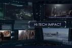 AE模版:现代高科技HUD界面图文展示栏目包装 Hi-Tech Impact