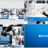 AE模版:公司企业宣传商务办公多屏画面图文展示栏目包装