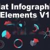 AE模版:动态平面信息数据元素 Flat Infographic Elements V1
