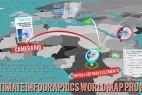 AE模板:超酷专业三维世界地图城市辐射定点连线效果(附脚本)3D World Map Pro Kit