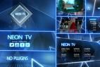 AE模版:霓虹电视广播新闻栏目包装片头效果 Neon TV Broadcast Package