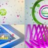 AE模版:5种绚丽多彩形状图形LOGO片头展示 Shape Logo Reveal 5 In 1