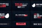 AE模版:15种迷你标题文字动画 15 Minimal Titles 13091397