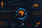 AE模版:HUD现代高科技信息化动态UI元素包 Modular HUD Elements