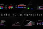 AE模版:多种三维信息图表动画 Multi 3D Infographics 3947357