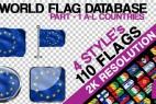 AE模版:多个国家旗帜飘舞动画效果 2K分辨率 百度云免费下载