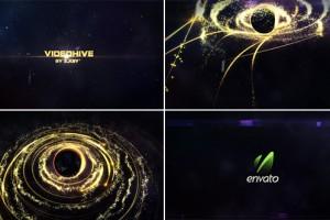 AE模版:超级炫酷粒子光束发散围绕地球LOGO片头展示效果 Element 3D