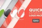 AE模版:明亮简洁快速迷你LOGO标志片头演绎效果展示