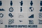 AE模板:个性动态文字标题图形排版动画效果 Kinetic Promo