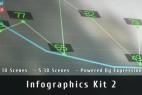 AE模板-图表柱状图地图信息公司企业数据统计MG动画展示工具包