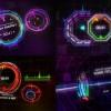 AE模板:4种绚丽动感高科技UI音乐动画效果