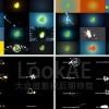 AE模板:60种LOGO标志动画 + 30组文字标题MG动画 + 128组MG图形动画FX效果