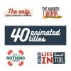 AE模板:40种个性文字排版动画效果 40 Animated Titles