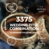 AE模板:优雅简洁小清新浪漫婚礼新人名字日期文字标题动画展示效果
