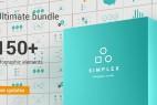 AE模板:扁平简洁公司企业信息数据图表统计动画元素包