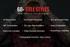 AE模板:60种不同个性标题文字排版动画效果 4K分辨率  60+ Title Styles