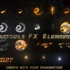 AE模板:高级火焰特效粒子 LOGO 标题燃烧效果工具包 Particle FX Elements