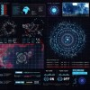 AE模板:搞科技HUD信心数据UI触控界面动画 Sci-fi Interface HUD