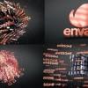 AE模板:E3D 三维立体粒子文字汇聚LOGO标志片头 3D Text Shapes Logo Reveal