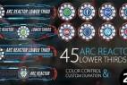 AE模板:45种HUD高科技UI界面文字标题字幕条动画 45 Arc Reactor Lower Thirds