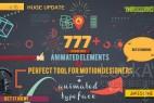 AE模板:777种二维扁平化动态图形MG动画元素合集包