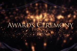 AE模板:高端大气抽象漂亮金色粒子活动晚会颁奖典礼栏目包装  Awards Ceremony