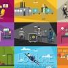 AE模板:二维卡通扁平化众多职业人物角色场景MG动画