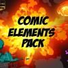 AE模板:100种炫酷卡通动漫火焰烟雾水液体气泡MG动画元素包