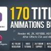 AE模板:170个文字标题排版动画效果 170 Titles Animations Bundle