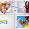 AE模板:炫彩动感MG动态元素图文照片介绍包装  Awesome People Slideshow