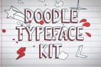 AE模板:手绘卡通MG动画元素 Doodle Typeface Kit