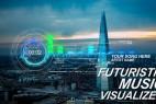AE模板:HUD高科技音频可视化频谱UI界面 Futuristic Music Visual